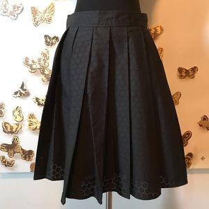 [Michael Kors] NWOT Pleated Eyelet Skirt w/POCKETS